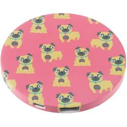 Acumulator universal extern My Doodles by Trendz Mirror Pug, 2000 mAh, Pink