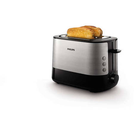 Philips Prajitor de paine Viva Collection HD2637/90, 1000 W, Negru/Argintiu