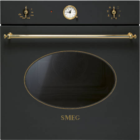 Smeg Cuptor COLONIALE 7+1 functii electric antracit/acc. Aurii