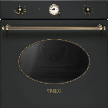 Smeg Cuptor COLONIALE 7+1 functii electric antracit/acc. alama