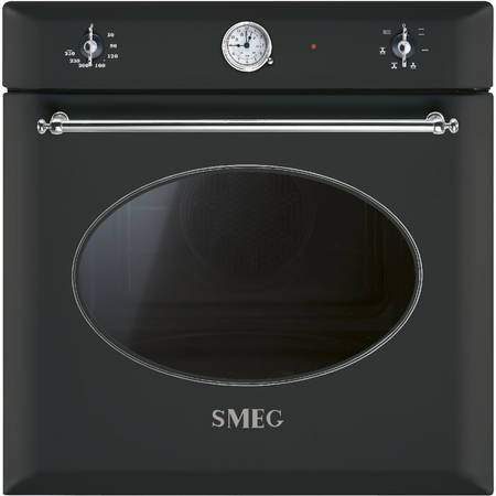 Smeg Cuptor COLONIALE 6 functii electric antracit/acc. arg.