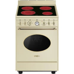 Smeg Masina de gatit Coloniale CO68CMP9, 4 zone, cuptor electric, crem/alama