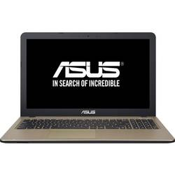 "Laptop ASUS 15.6"" X540SA, Intel Celeron N3060, 4GB, 500GB, GMA HD 400, FreeDos, Chocolate Black"