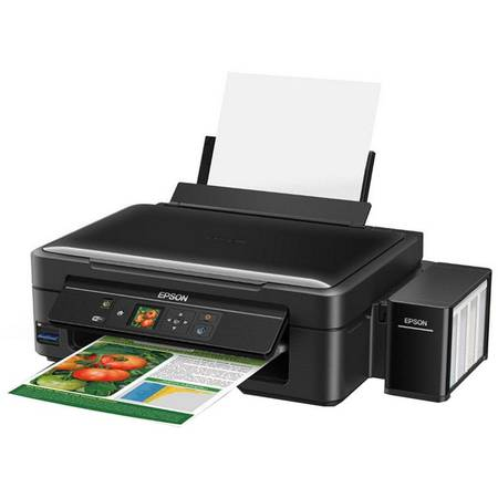 Multifunctional inkjet color CISS Epson L486, A4, Wireless