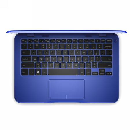 Laptop DELL 11.6'' Inspiron 3162 (seria 3000), Intel Pentium Quad Core N3710, 4GB, 128GB SSD, GMA HD 405, Win 10 Home, Blue