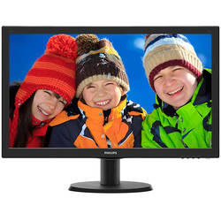 "Monitor LED Philips 243V5QSBA/00 23.6"" 8ms Black"