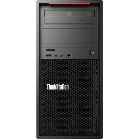 Sistem desktop Lenovo ThinkStation P310 Tower, Intel Xeon E3-1225 v5 3.3GHz Skylake, 4GB DDR4, 1TB, GMA HD P530, Win 7 Pro + Win 10 Pro