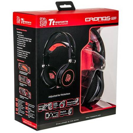Thermaltake Casti PC Gaming Tt eSPORTS CRONOS AD Black