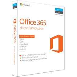 Microsoft Office 365 Home, Subscriptie 1 an, 1 User, 5 PC, Engleza, Retail