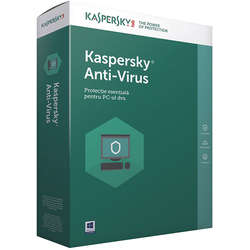 Antivirus  Kaspersky 2017, nou, 1 AN + 3 luni gratuite , 5 calculatoare, retail