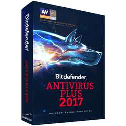 Bitdefender Antivirus Plus 2017, 3 PC, 1 an, New License, Retail