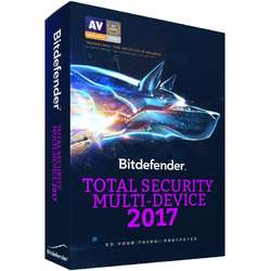 Bitdefender Total Security Multi-Device 2017, 5 device-uri, 1 an, New License, Retail