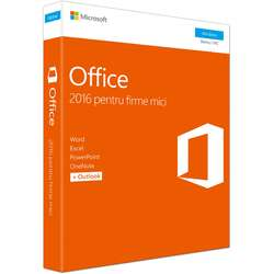 Microsoft Office Home and Business 2016 RO, 32-bit/x64, 1 PC, FPP