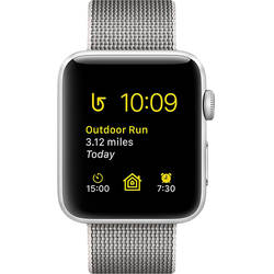 Apple Watch 2 Aluminiu Argintiu 38MM Si Curea Nylon Gri Pearl