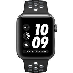 Apple Watch 2 Nike Plus Aluminiu Negru 38MM Si Curea Silicon Negru Gri