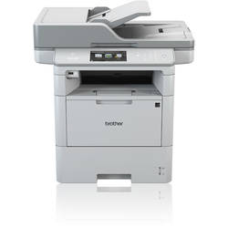 Multifunctional Brother DCP-L6600DW, laser alb-negru, A4, 46 ppm, Duplex, ADF, Retea, Wireless