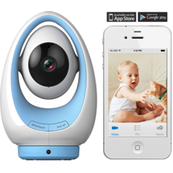 Foscam Baby Monitor IP FOSBABYP1-BLUE WLAN 2.8mm H.264 720p Plug&Play