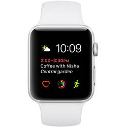 Smartwatch Apple Watch 1 Aluminiu Argintiu 42MM Si Curea Sport Alba
