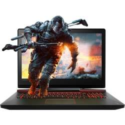 "Laptop Gaming Lenovo IdeaPad Y910-17ISK, Core i7-6820HK 2.70 GHz,  17.3"", Full HD, IPS, 64GB, 1TB + 1TB SSD, DVD-RW extern, GTX 1070 8GB, Win 10 Home, Black"
