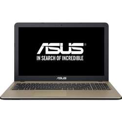"Laptop ASUS 15.6"" X540SA, Intel Pentium N3710, 4GB, 500GB, GMA HD 405, FreeDos, Chocolate Black"