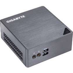 Mini Sistem PC GIGABYTE BRIX, Celeron 3955U 2.0GHz, 2x DDR3 16GB max, mSATA, HDD 2.5 inch, Wi-Fi, Bluetooth, HDMI, Mini DisplayPort, USB 3.0