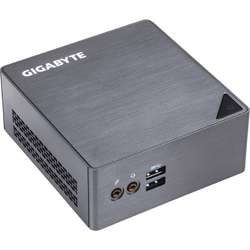 Mini Sistem PC GIGABYTE BRIX, i3 6100U 2.3GHz, 2x DDR3 16GB max, M.2 2280 SSD, HDD 2.5 inch, Wi-Fi, Bluetooth, HDMI, Mini DisplayPort, USB 3.0