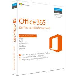 Microsoft Office 365 Home Premium Romana, Subscriptie 1 an
