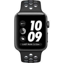 Apple Watch 2 Nike Plus Aluminiu Negru 42MM Si Curea Silicon Negru Gri