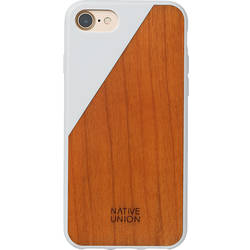 NATIVE UNION Husa Capac spate Walnut Wood Alb Apple iPhone 7