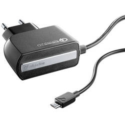 Cellularline Incarcator Priza Quick Charge 2.0 Micro USB Negru