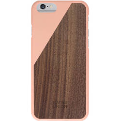 NATIVE UNION Husa Capac spate Clic Luxury Blossom Walnut Roz APPLE iPhone 6, iPhone 6S
