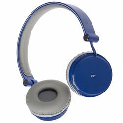 Casca bluetooth stereo KitSound Fresh Metro Overhead, Sea Mist Blue