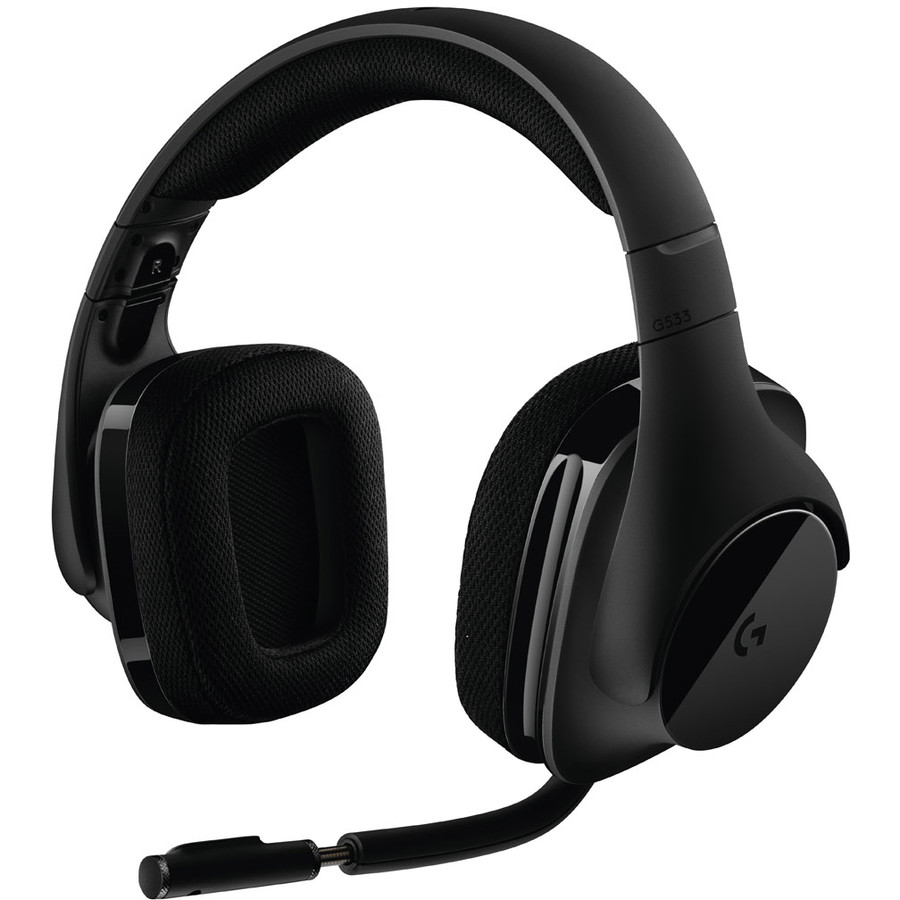 Casti Gaming G533, Wireless, Dts Surround 7.1, Black