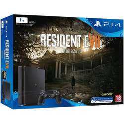 Consola Sony PlayStation 4 Slim, 1TB, Black + Joc Resident Evil 7