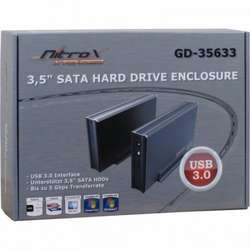 Inter-Tech Rack HDD CobaNitrox Xtended USB 3.0, compatibil cu HDD 3.5""