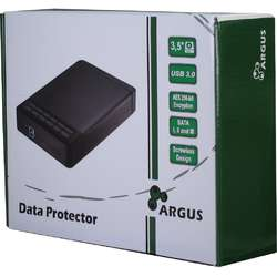 Inter-Tech Rack HDD USB 3.0, criptare AES 256-bit hardware a datelor, compatibil cu HDD 3.5""