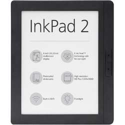 eBook Reader PocketBook Inkpad 2, E Ink Pearl™ HD Plus, 250dpi, 4GB, audio out, LED frontlight, WiFi, Gri