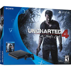 Sony Playstation 4 Slim 500GB + Joc Uncharted A Thief's End