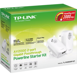 TP-LINK Kit Adaptor Powerline AV2000 2xGigabit, PassThrough (Twin Pack)