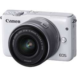 Canon Aparat foto Mirrorless EOSM10 alb + obiectiv EF-M 15-45mm IS