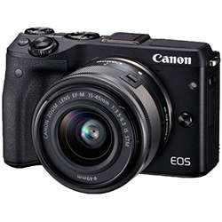 Canon Aparat foto Mirrorless EOSM3 negru + obiectiv EF-M 15-45mm IS