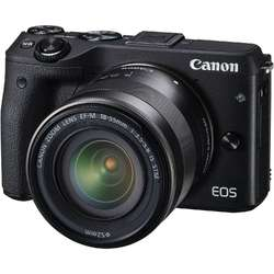 Canon Aparat foto Mirrorless EOSM3 negru + obiectiv EF-M 18-55mm IS