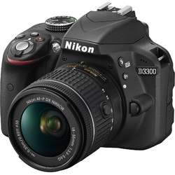 Nikon Aparat foto DSLR D3300, 24.2MP, Black + Obiectiv AF-P 18-55mm