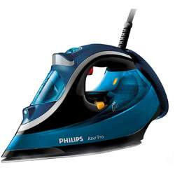Philips Fier de calcat Azur Performer Plus GC4881/20, 2800 W, talpa T-IonicGlide, 0.35 l, 210 g/min, compartiment Anti-Calc, albastru