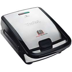 Tefal Sandwich-maker Snack Collection 2 in 1 SW852D12, 2 indicatoare luminoase, 700 W, inox