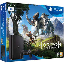Consola Sony PS4 Slim 1TB Black + Joc Horizon Zero Dawn+ Abonament 3 luni PS+