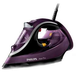 Philips Azur Pro Steam iron GC4887/30 3000 Watts 50 g/min;230 g steam boost T-ionicGlide Soleplate Safety auto off + anti-calc