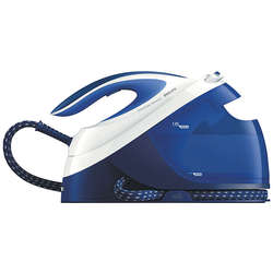 Philips Statie de calcat PerfectCare Performer GC8731/20, 2400 W, talpa SteamGlide, 1.8 l, 390 g/min, OptimalTemp, detartrare automata, Soft Grip, albastru