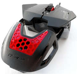Saitek Mouse Gaming Mad Catz RAT 1, 1600dpi, Black