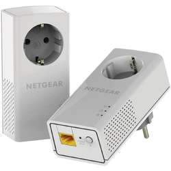 NETGEAR Kit Powerline 1200Mbps Passthru Gigabit, 2 buc, PLP1200